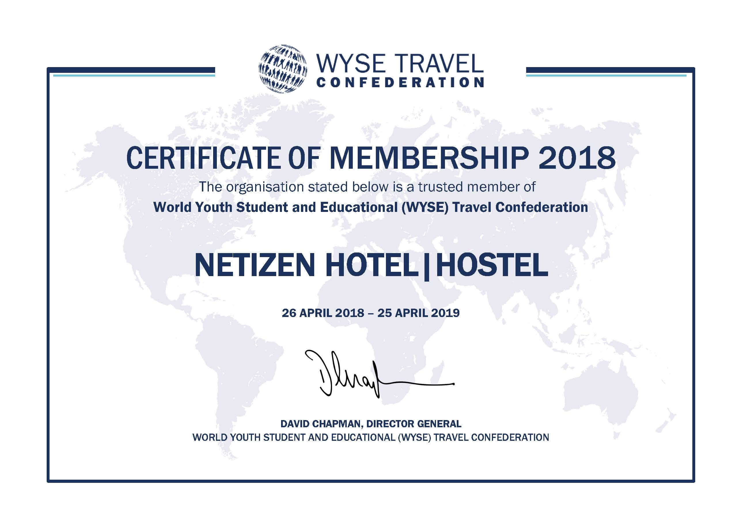 NETIZEN joined the international youth tourism organization WYSE travel confederation
